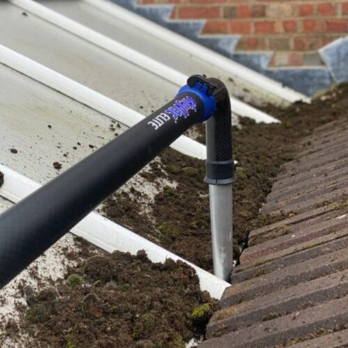 90° Degree Gutter End Tool in action