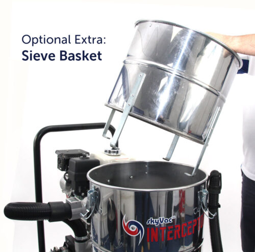 interceptor with sieve basket