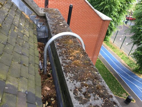 church parapet cleaning tool