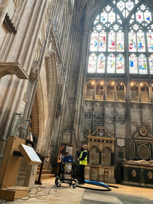 Cleaning Gloucester Cathedral 3