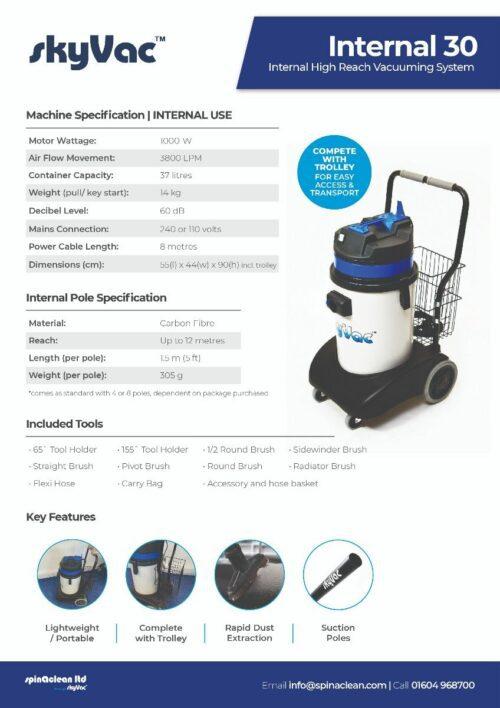 skyVac® Internal 30 leaflet