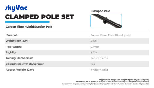 skyVac Clamped pole set